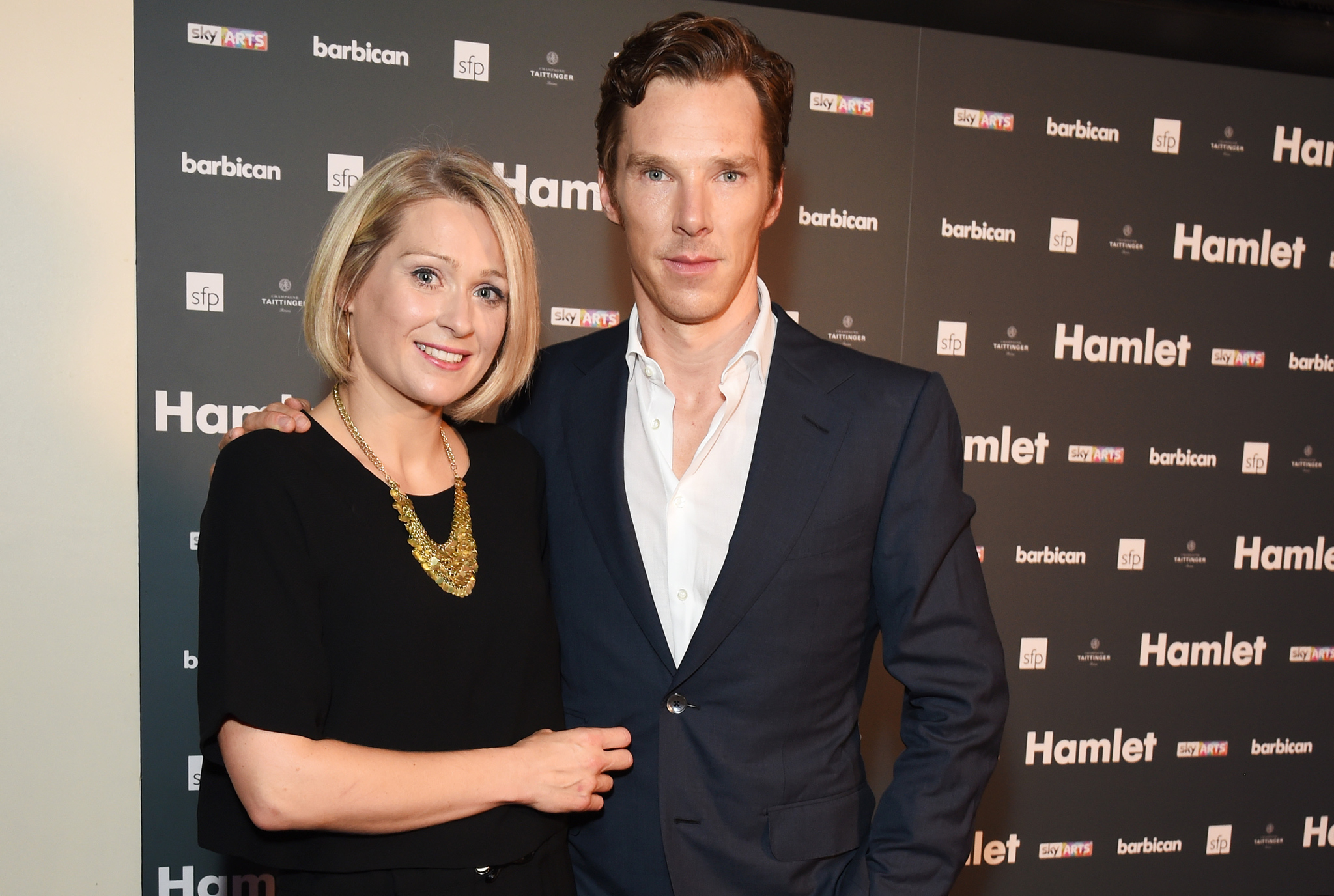 Benedict Cumberbatch and Sian Brooke at an event for National Theatre Live: Hamlet (2015)