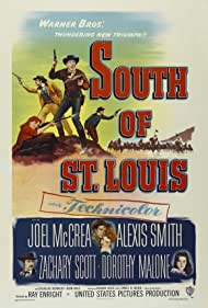 Dorothy Malone, Joel McCrea, Zachary Scott, and Alexis Smith in South of St. Louis (1949)