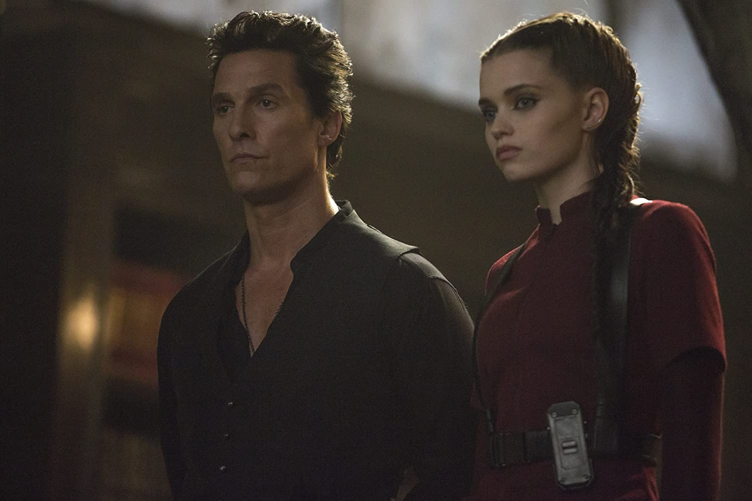 Matthew McConaughey and Abbey Lee in The Dark Tower (2017)