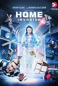 Marilyn Cutts, Morena Baccarin, Johan Glans, Leo Oliva, Nishi Munshi, Ross Philips, Jadah Marie, and Luke Dimyan in Home Invasion (2021)