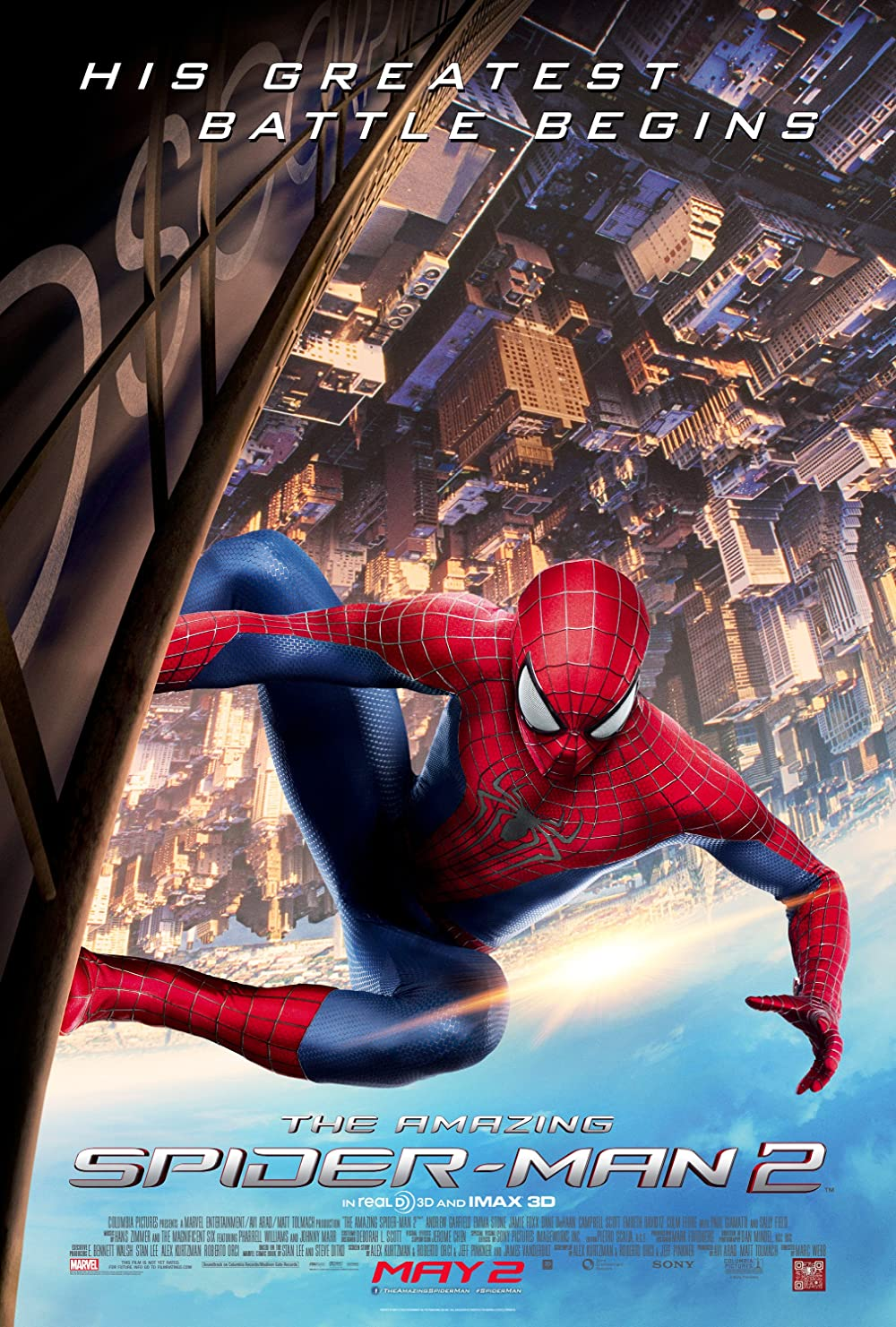 The Amazing Spider Man 2 2014 Hindi Dual Audio 500MB BluRay ESubs Download
