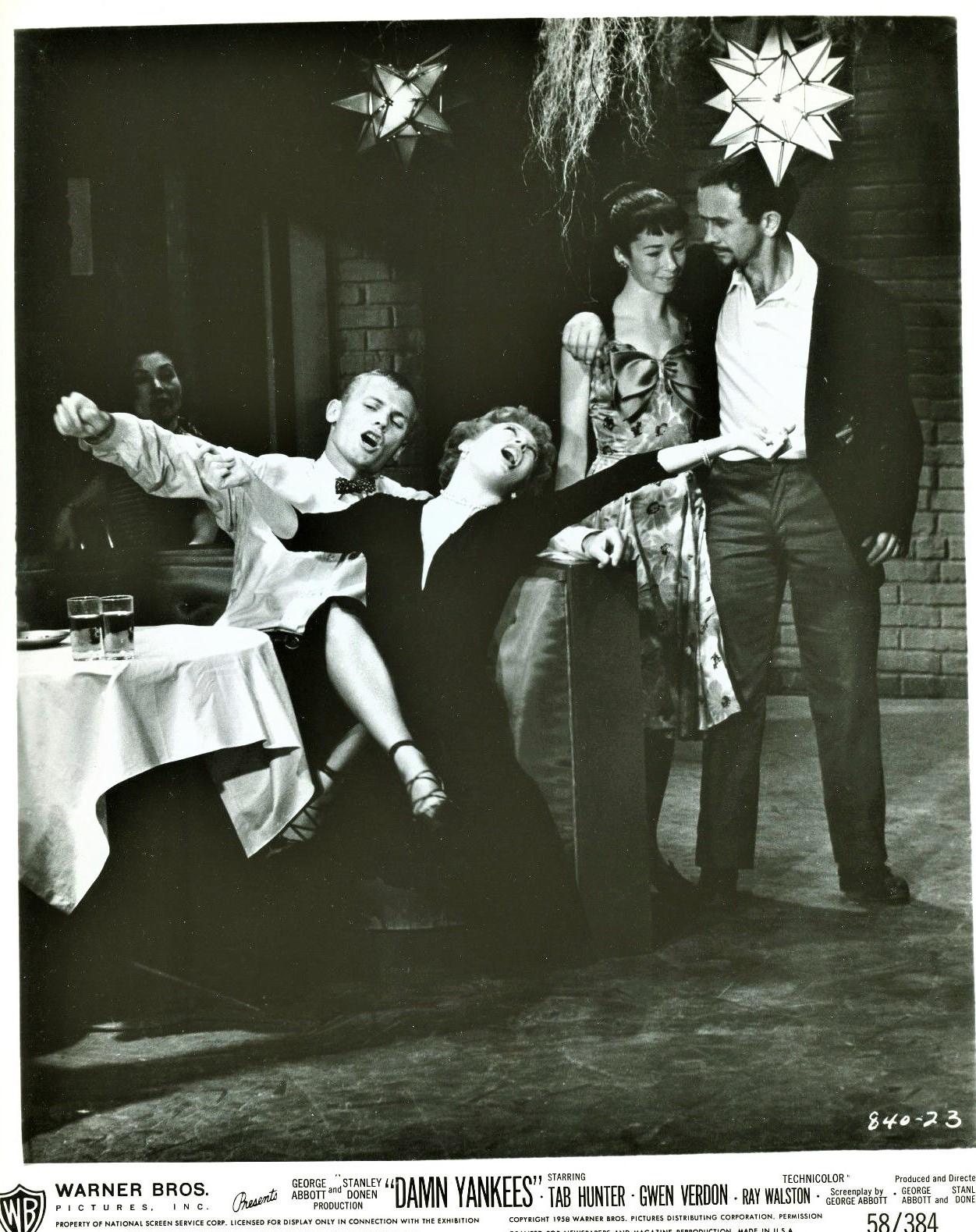 Tab Hunter and Gwen Verdon in Damn Yankees (1958)