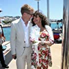 Joan Collins and Roger Goldby at an event for The Time of Their Lives (2017)