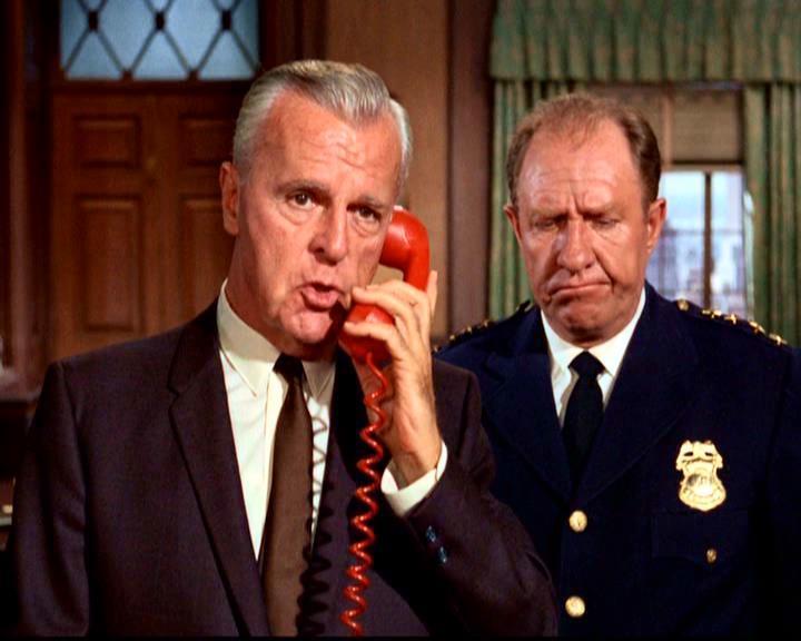 Neil Hamilton and Stafford Repp in Batman 1966