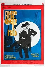 Marcello Mastroianni and Giulietta Masina in Ginger e Fred (1986)