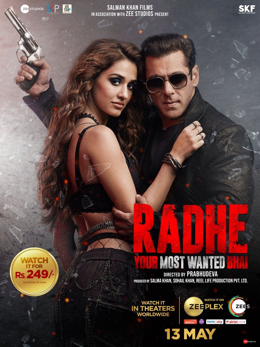 Download Radhe 2021 Hindi Movie 480p Zee5 HDRip ESubs 500MB