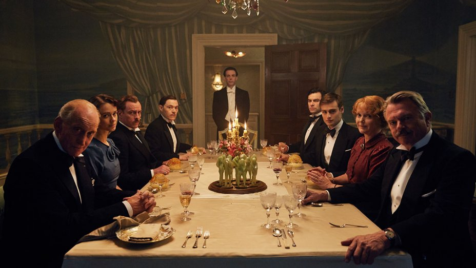 Sam Neill, Charles Dance, Miranda Richardson, Maeve Dermody, Toby Stephens, Noah Taylor, Burn Gorman, Aidan Turner, and Douglas Booth in And Then There Were None (2015)