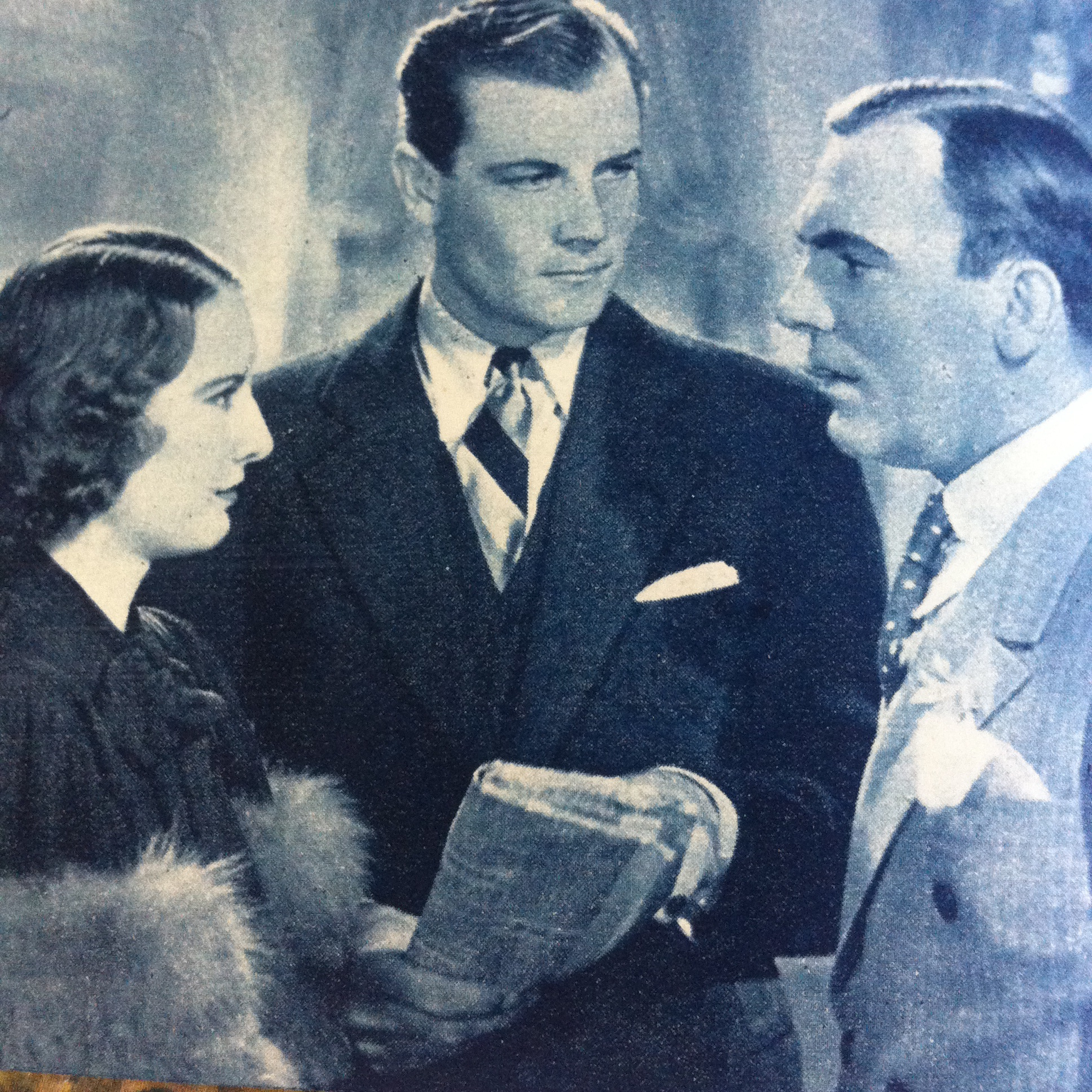 Barbara Stanwyck, Pat O'Brien, and Joel McCrea in Gambling Lady (1934)