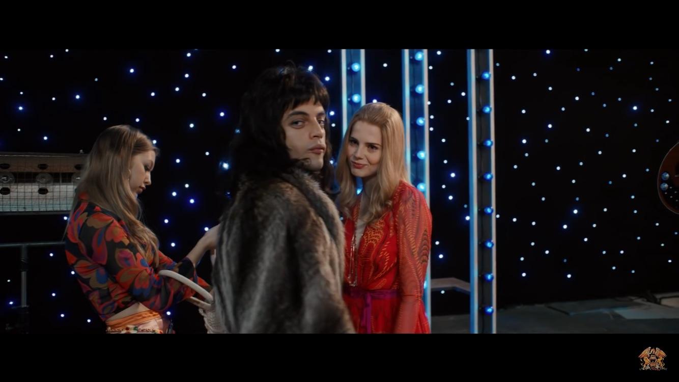 Rami Malek and Lucy Boynton in Bohemian Rhapsody (2018)