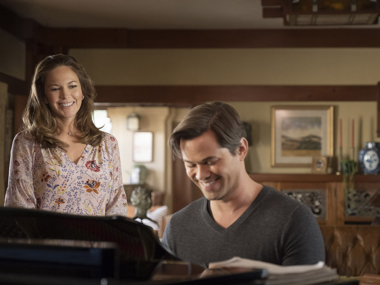 Diane Lane and Andrew Rannells in The Romanoffs (2018)