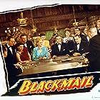 Ricardo Cortez, Stephanie Bachelor, Joy Barlow, George J. Lewis, and Eva Novak in Blackmail (1947)