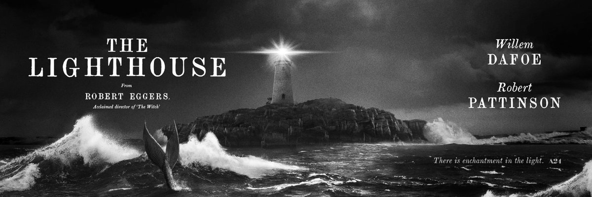 Poster The Lighthouse (2019), Willem Dafor dan Robert Pattinson.