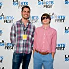 Jim Cummings and Grant Amann at the LA Shorts Fest screening of Confusion Through Sand.
