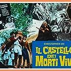 Christopher Lee, Donald Sutherland, and Gaia Germani in Il castello dei morti vivi (1964)