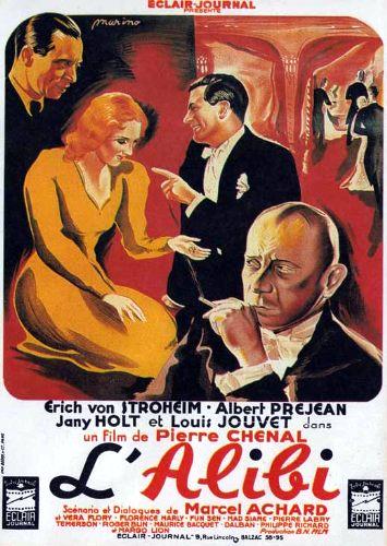 Erich von Stroheim and Jany Holt in L'alibi (1937)