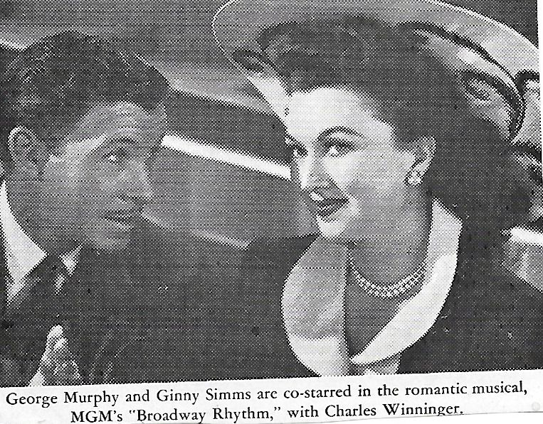 George Murphy and Ginny Simms in Broadway Rhythm (1944)