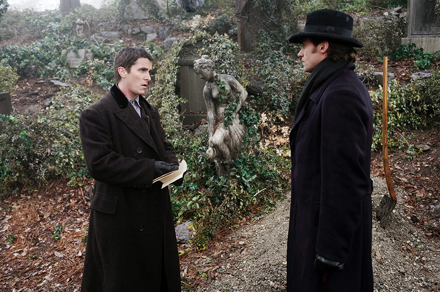 Christian Bale and Hugh Jackman in The Prestige (2006)