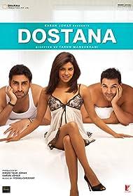 Abhishek Bachchan, Priyanka Chopra Jonas, and John Abraham in Dostana (2008)