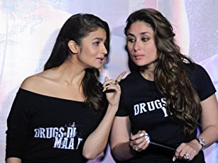 Kareena Kapoor and Alia Bhatt at an event for Udta Punjab (2016)