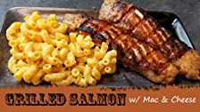 Grilled Salmon and Mac & Cheese