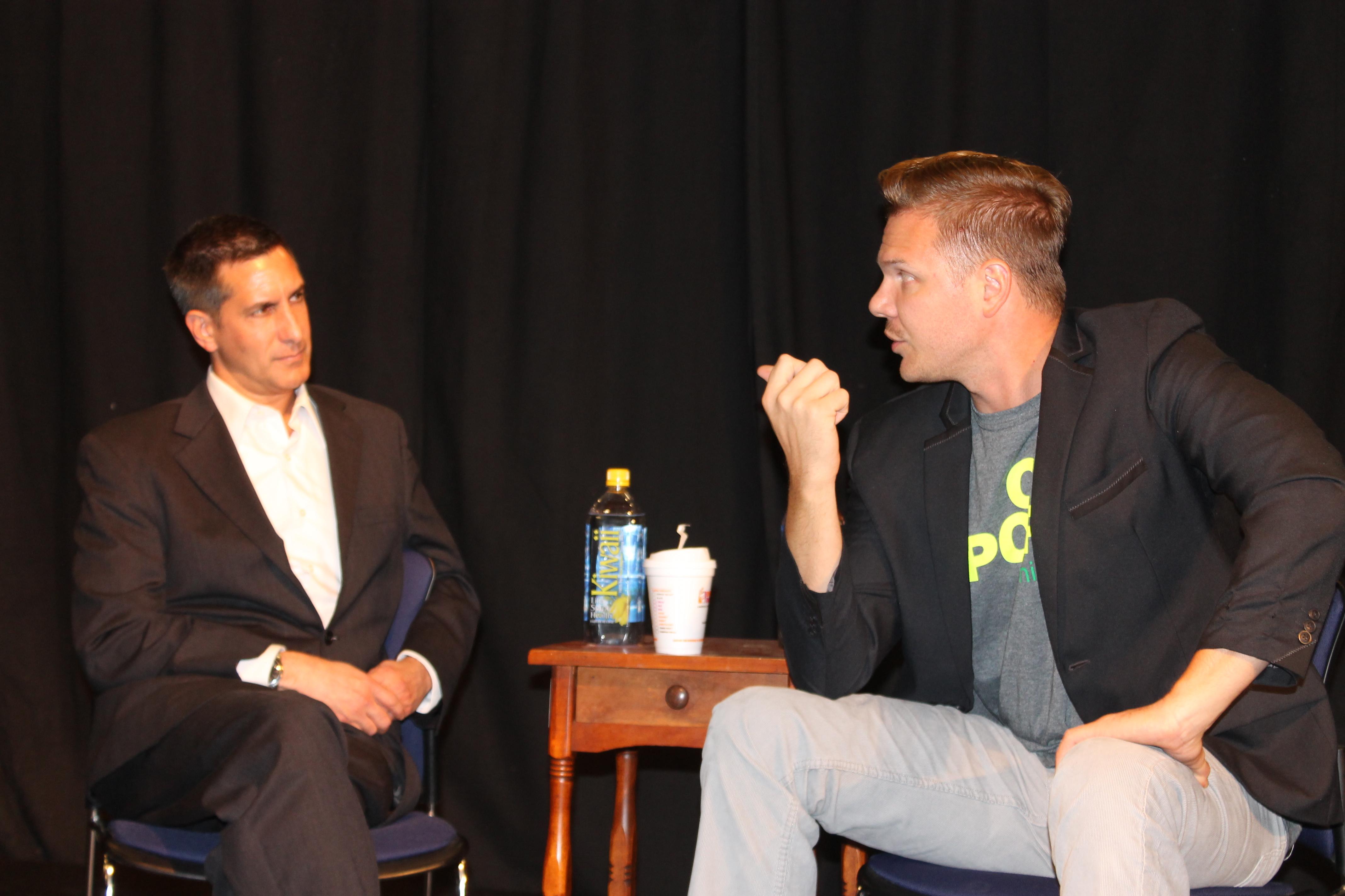 Tony Savant with Jim Parrack