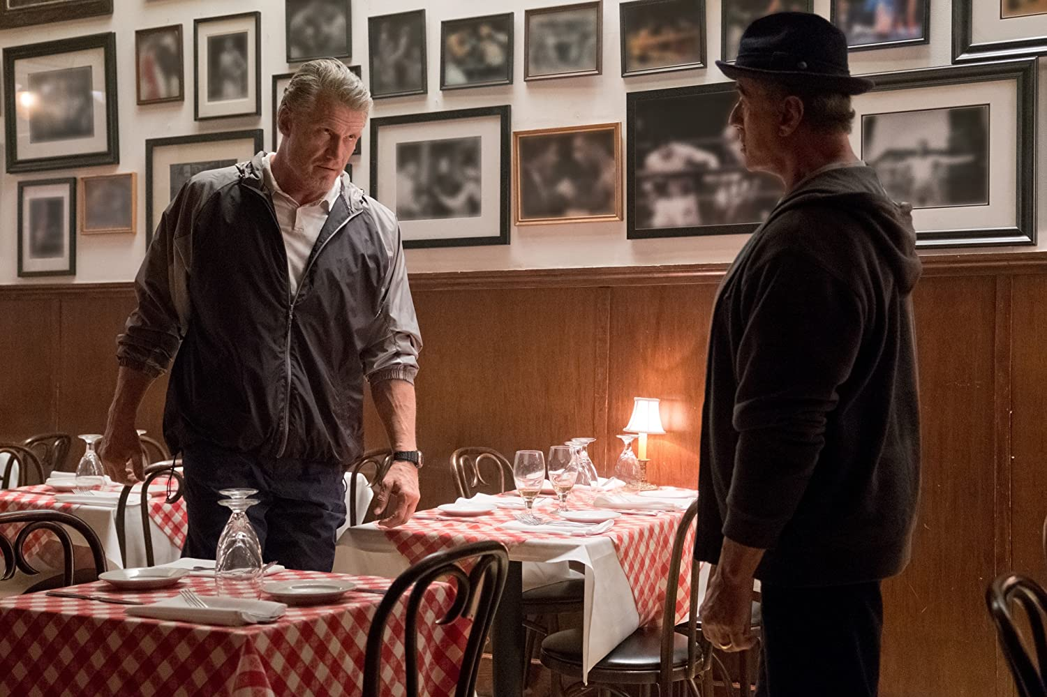 Dolph Lundgren and Sylvester Stallone in Creed II (2018)