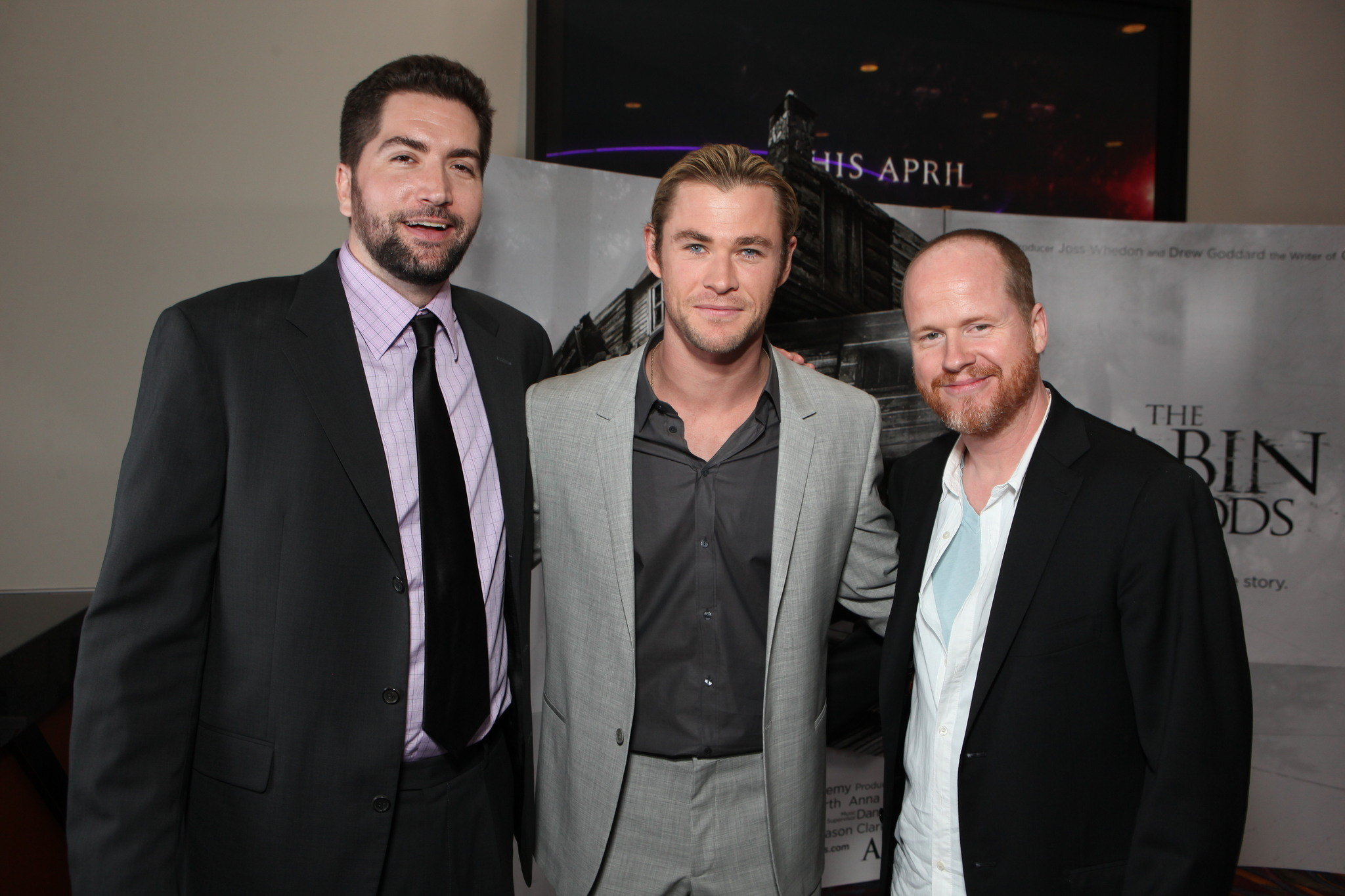 Joss Whedon, Chris Hemsworth, and Drew Goddard at an event for The Cabin in the Woods (2011)