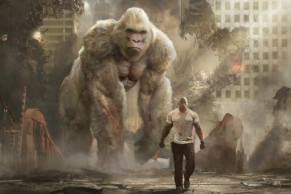 Dwayne Johnson in Rampage (2018)