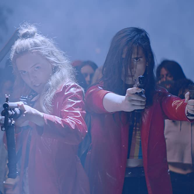 Odessa Young, Suki Waterhouse, Hari Nef, and Abra in Assassination Nation (2018)