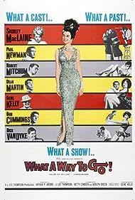 Gene Kelly, Robert Mitchum, Paul Newman, Shirley MacLaine, Dean Martin, Dick Van Dyke, and Robert Cummings in What a Way to Go! (1964)