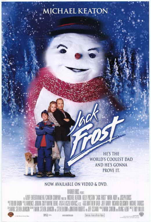 Michael Keaton, Kelly Preston, and Joseph Cross in Jack Frost (1998)
