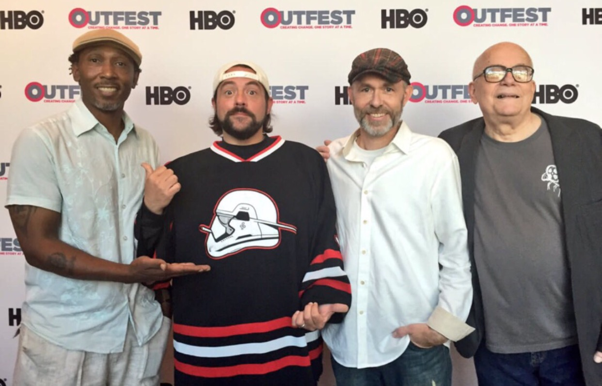Kevin Smith, Robert Hawk, JJ Garvine, and Tai Parquet at an event for Film Hawk (2017)