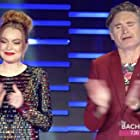 Dave Hughes and Lindsay Lohan in The Masked Singer Australia (2019)