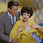 Michael Craig and Fenella Fielding in Doctor in Love (1960)