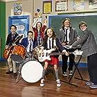 Tony Cavalero, Aidan Miner, Breanna Yde, Lance Lim, and Ricardo Hurtado in School of Rock (2016)