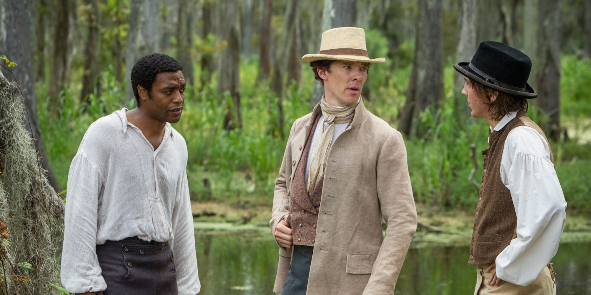 Paul Dano, Chiwetel Ejiofor, and Benedict Cumberbatch in 12 Years a Slave (2013)
