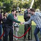 Rob Lowe, Rashida Jones, Nick Offerman, and Chris Pratt in Parks and Recreation (2009)
