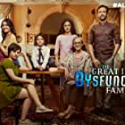 Swaroop Sampat, Kay Kay Menon, Barun Sobti, Shriswara, Eisha Chopra, Sanaya Pithawalla, and Perlene Bhesania in The Great Indian Dysfunctional Family (2018)