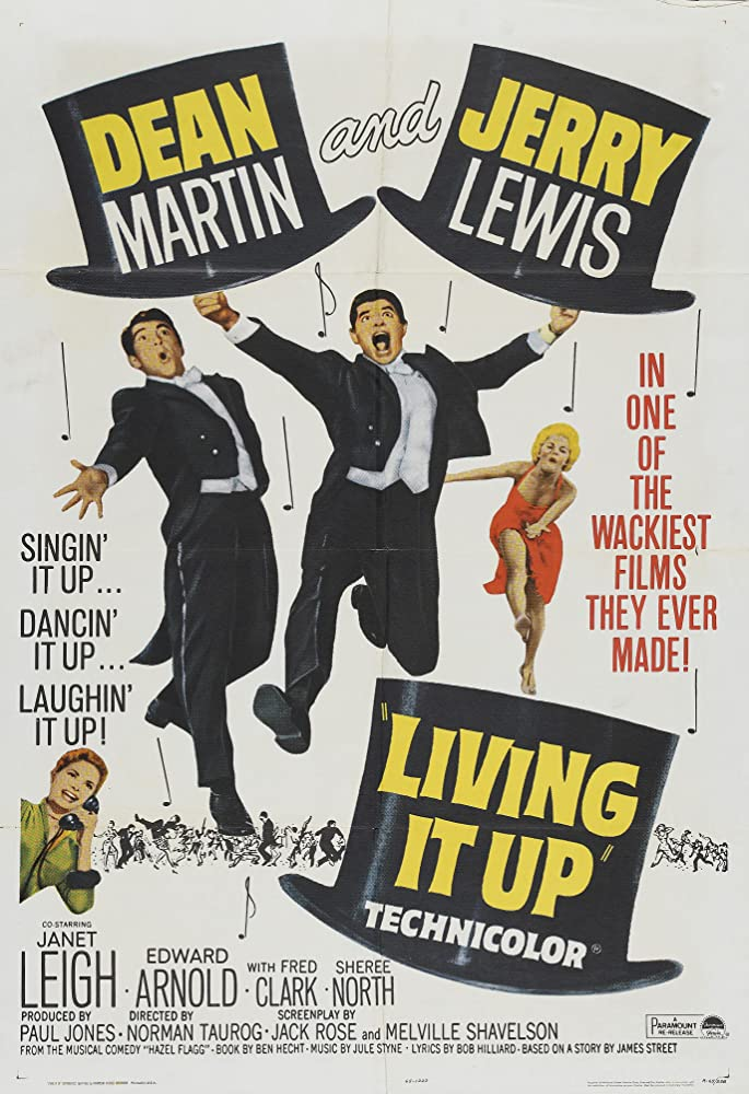 Janet Leigh, Jerry Lewis, Dean Martin, and Sheree North in Living It Up (1954)