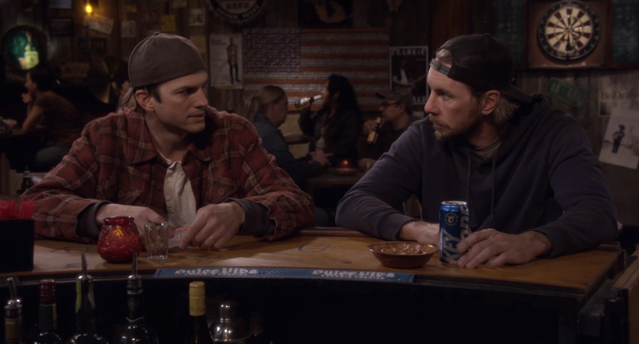 Ashton Kutcher and Dax Shepard in The Ranch (2016)
