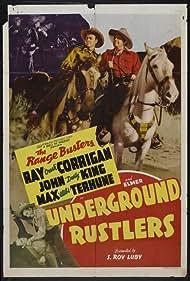 Ray Corrigan and John 'Dusty' King in Underground Rustlers (1941)