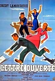 Lettre ouverte Poster