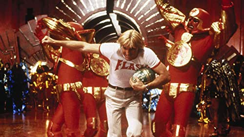 When energy waves pull the moon out of orbit, New York Jets quarterback Flash Gordon unwittingly finds himself heading for the planet Mongo, where - with assistance from beautiful Dale Arden - he'll take on Ming the Merciless and rescue humankind.