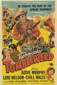 Audie Murphy, Lori Nelson, and Chill Wills in Tumbleweed (1953)