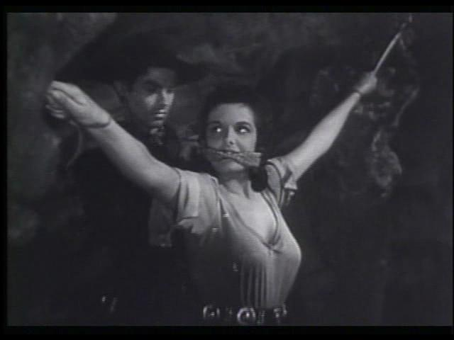 Jane Russell and Jack Buetel in The Outlaw (1943)