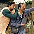 Irrfan Khan and Deepak Dobriyal in Angrezi Medium (2020)