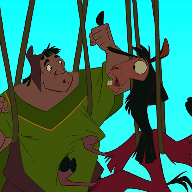 John Goodman and David Spade in The Emperor's New Groove (2000)