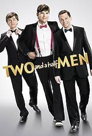Jon Cryer, Ashton Kutcher, Angus T. Jones, and Sergio Kato in Two and a Half Men (2003)