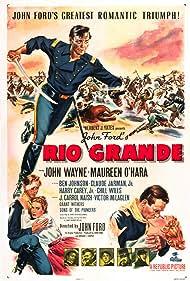 Harry Carey Jr., Ben Johnson, Victor McLaglen, J. Carrol Naish, and Chill Wills in Rio Grande (1950)