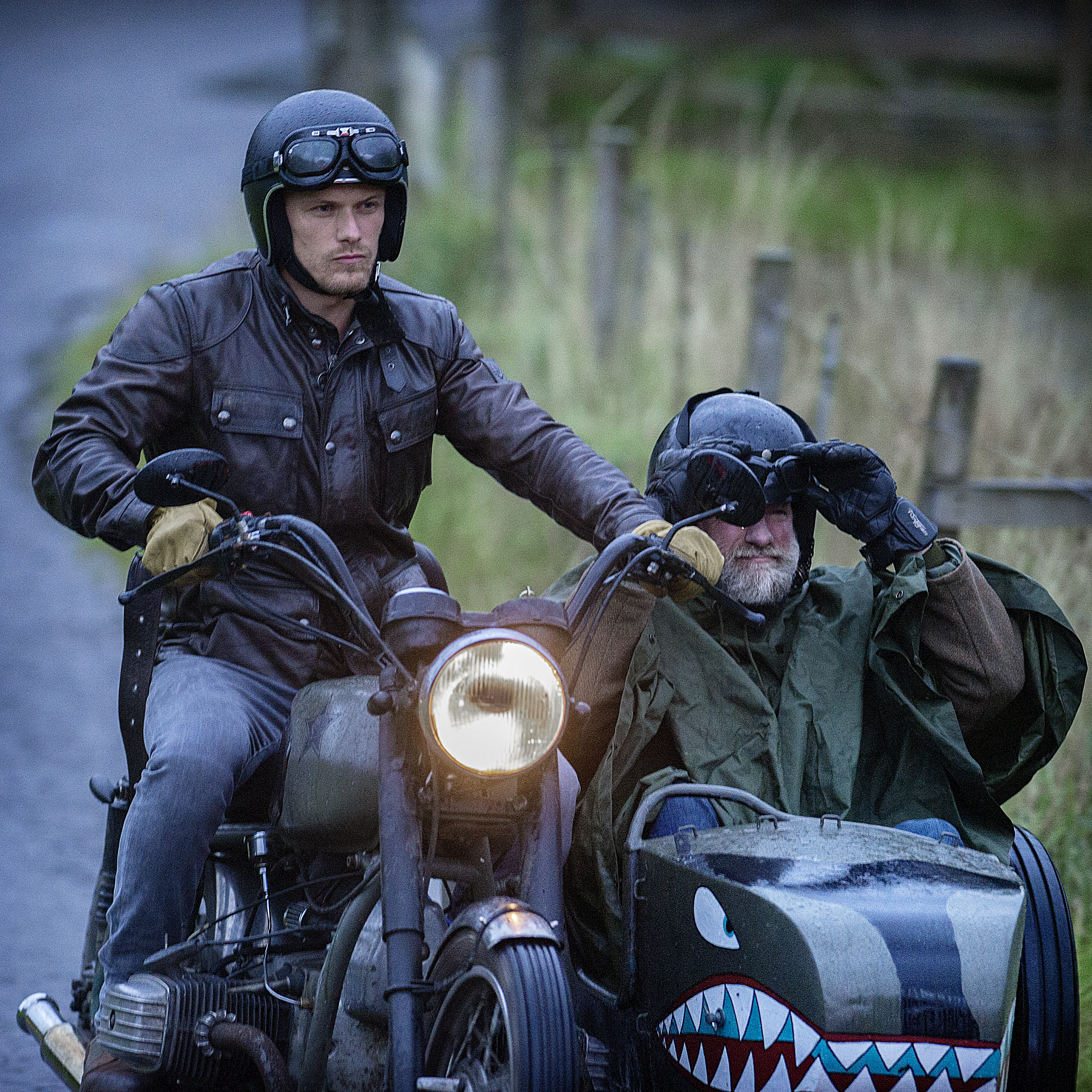 Graham McTavish and Sam Heughan in Men in Kilts: A Roadtrip with Sam and Graham (2021)
